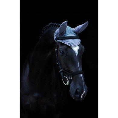 Rambo by Horseware Ear Net Charcoal/silver Pony/Cob