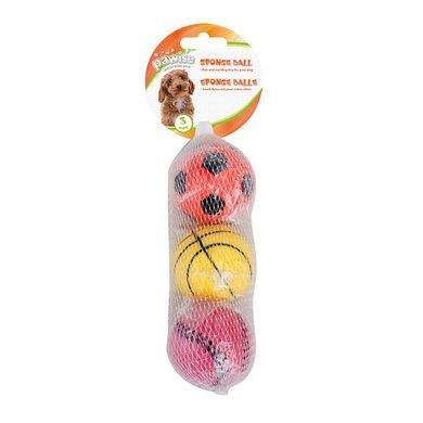 Pawise Sponge Ball 6cm 3-pack