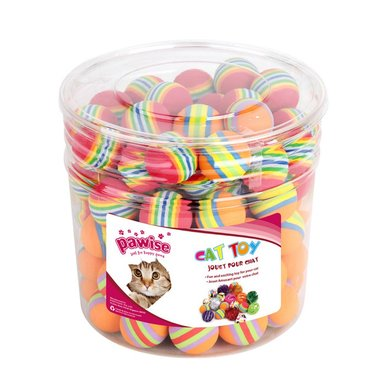 Pawise Rainbow Foam Balls Per 90st