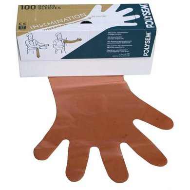 Agradi Disposable glove Vet. Orange 100pcs.