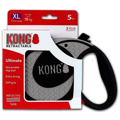 Kong Retractable Leash Ultimate 5m Grey Extra Large