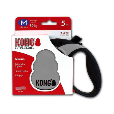 Kong Retractable Leash Terrain 5m Grey