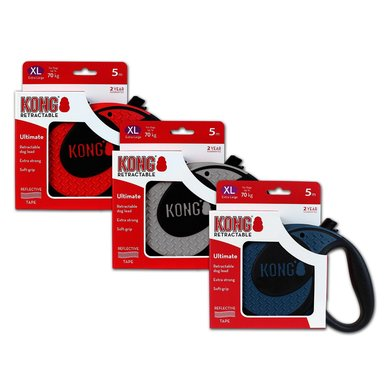 Kong Retractable Leash Ultimate 5m Blue Extra Large