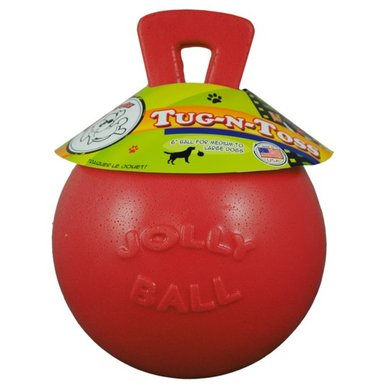 Jolly Ball Tug-n-Toss Rouge