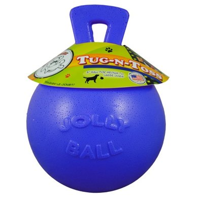 Jolly Ball Tug-n-Toss Bleu