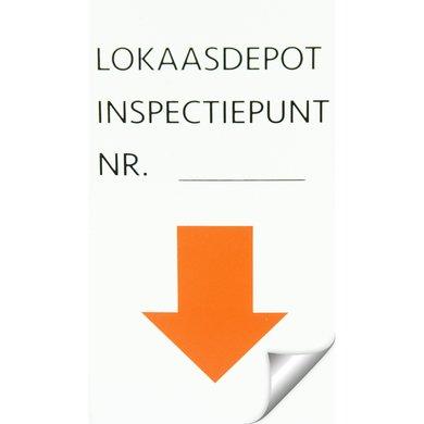 Agradi Sticker Inspectiepunt 5 x 9cm