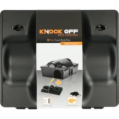 Knock Off Voerdoos Rat/Muis Dual bait Klem 23,5x19,5x10,5cm
