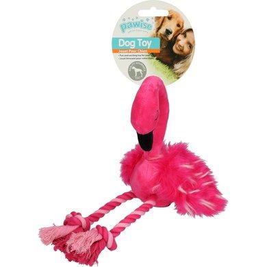 Agradi Flamingo Met Poten Van Touw Roze