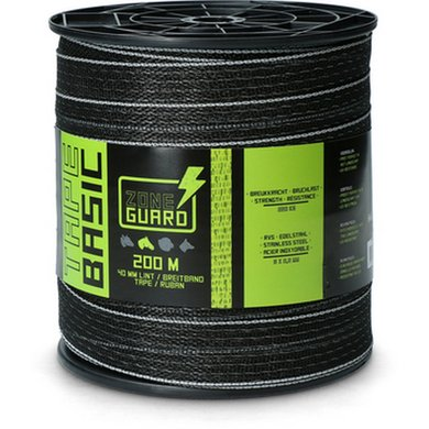 ZoneGuard Lint Eco 200m/40mm zwart