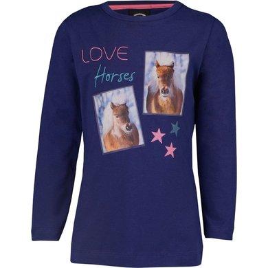 Horka Shirt Pony Blauw 128