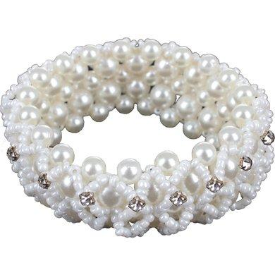 Horka Haar Band Crystal Pearl Weiß