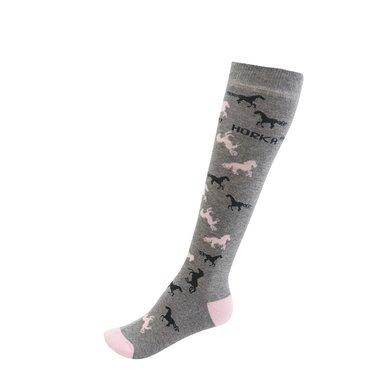 Horka Socks Grey/Pink