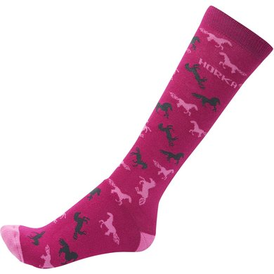 Horka Riding Socks Fuchsia