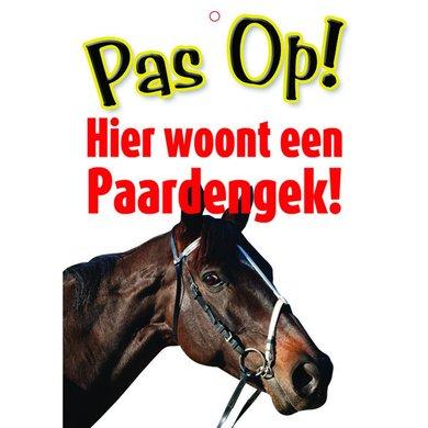 Red Horse Waakbord Pas op, paardengek Paardengek