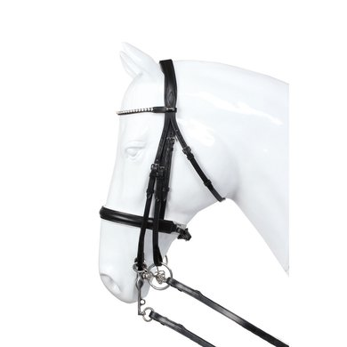 Horka Weymouth Bridle Delgado White Padding Black/white Full