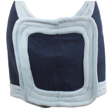 horka fleece decke mit brustlatz blau. Black Bedroom Furniture Sets. Home Design Ideas