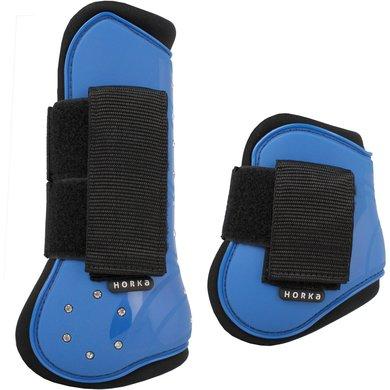 Horka PVC Beenbeschermerset Strass Set 4 Royal Blue