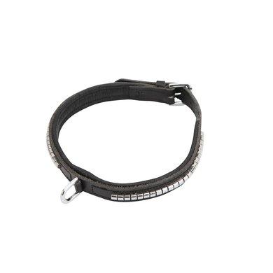 Horka Halsband Hond Leer Clincher Zwart/Zilver