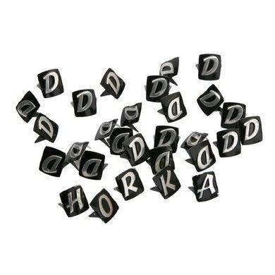 Horka Lettertjes 50st Zwart