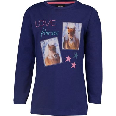Horka Shirt Pony Blue 152