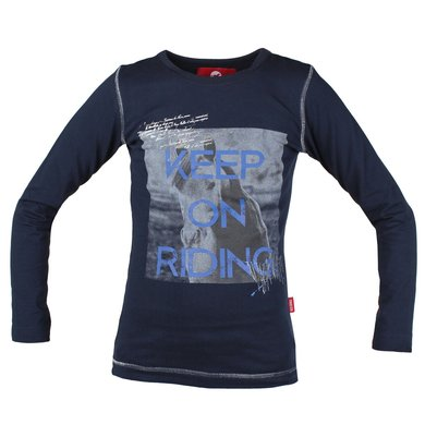 Red Horse Shirt Alpha Blauw 140
