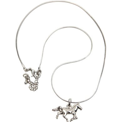 Red Horse Ketting Paard Zilver