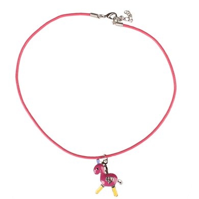 Red Horse Ketting Pony Pink