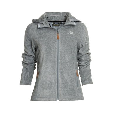 HV Polo Jacket Clarinda Fleece Grau Melange