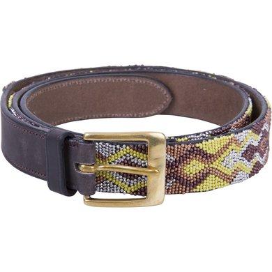HV Polo Society Belt Beads Dark Brown 75