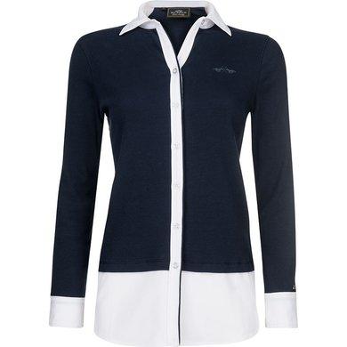 HV Polo Society Blouse rib jersey Linden Navy L
