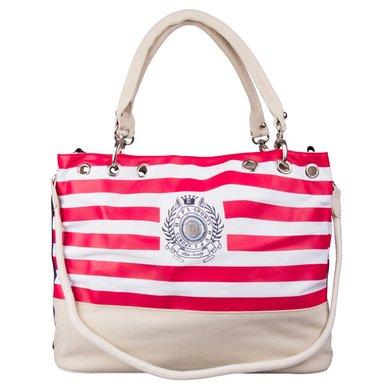 HV Polo Society Canvas Shopper Stripe Cayenne-White