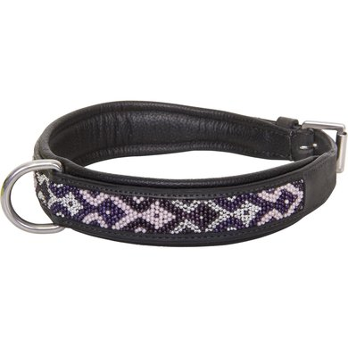 HV Polo Society Dog Collar Beads Black L