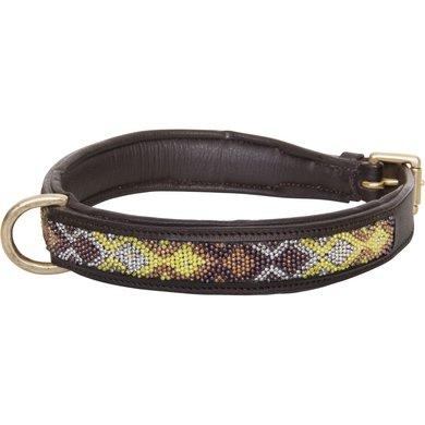 HV Polo Society Dog Collar Beads Dark Brown L