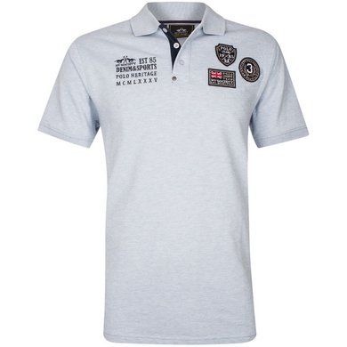 HV Polo Society Polo Haven Lightblue Melange L