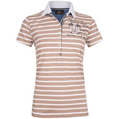 HV Polo Polo Shirt Arlene Light Taupe XS