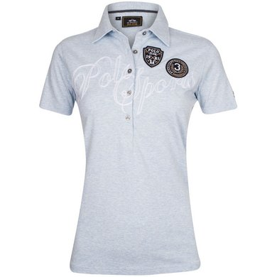 HV Polo Polo Shirt Azura Lightblue Melange XS