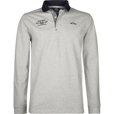 HV Polo Society Poloshirt Davidson Silvergrey Melange XXL