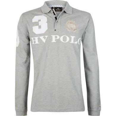 HV Polo Polo Favouritas M EQ LS Silvergrey Melange XL