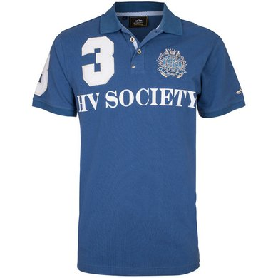 HV Polo Society Polo Favouritas M F SS Ink Blue L