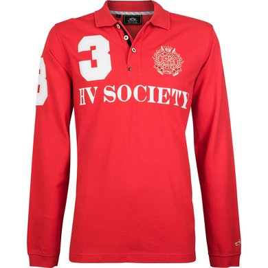 HV Polo Society Polo Favouritas M F LS Bright Red L