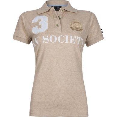 HV Polo Society Polo Favouritas F SS Sand Melange XXL
