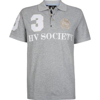 HV Polo Society Polo Favouritas M F SS Silvergrey Melan XXXL