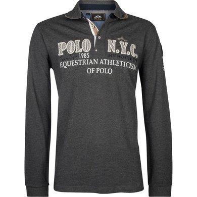 HV Polo Society Poloshirt Fillmore Graphite melange S