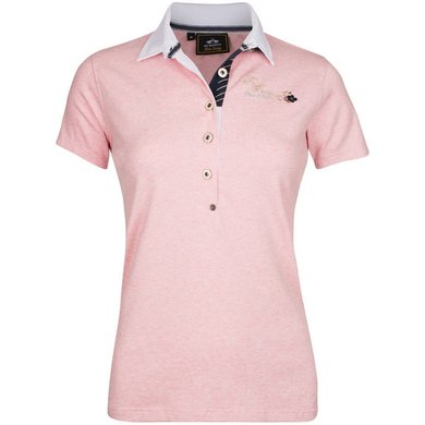 HV Polo Society Polo Shirt Ginger Blush melange L