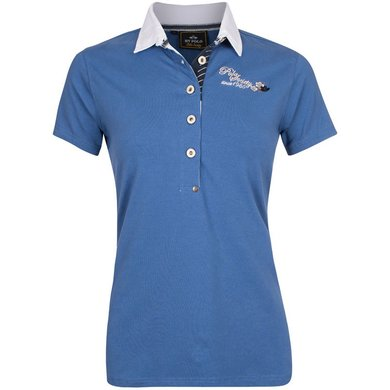 HV Polo Society Polo Shirt Ginger Ink Blue M