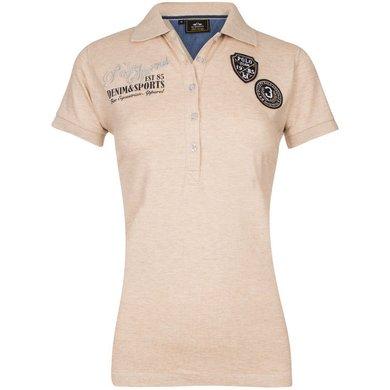 HV Polo Polo Shirt Mavis Sand Melange S