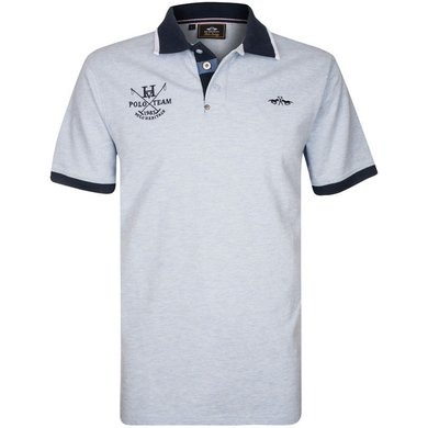 HV Polo Society Polo Zelan Lightblue Melange XXL