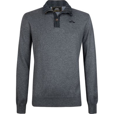 HV Polo Society Pullover Clyde Grey Melange L