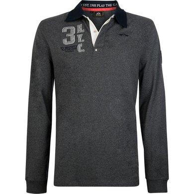 HV Polo Society Rugbyshirt Tomkins Graphite melange XXL