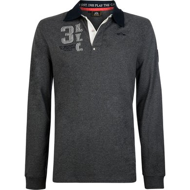 HV Polo Society Rugbyshirt Tomkins Graphite melange L
